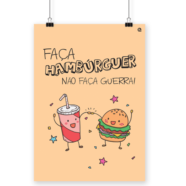 Poster Decorativo Hamburguer