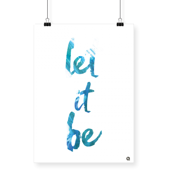 Poster Let it Be A4