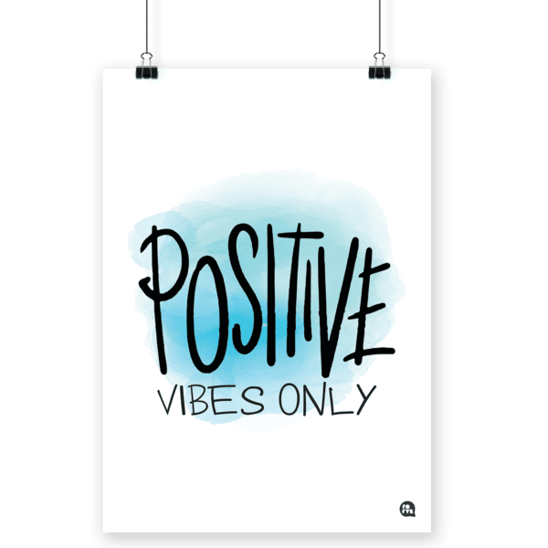 Poster decorativo Positive Vibes
